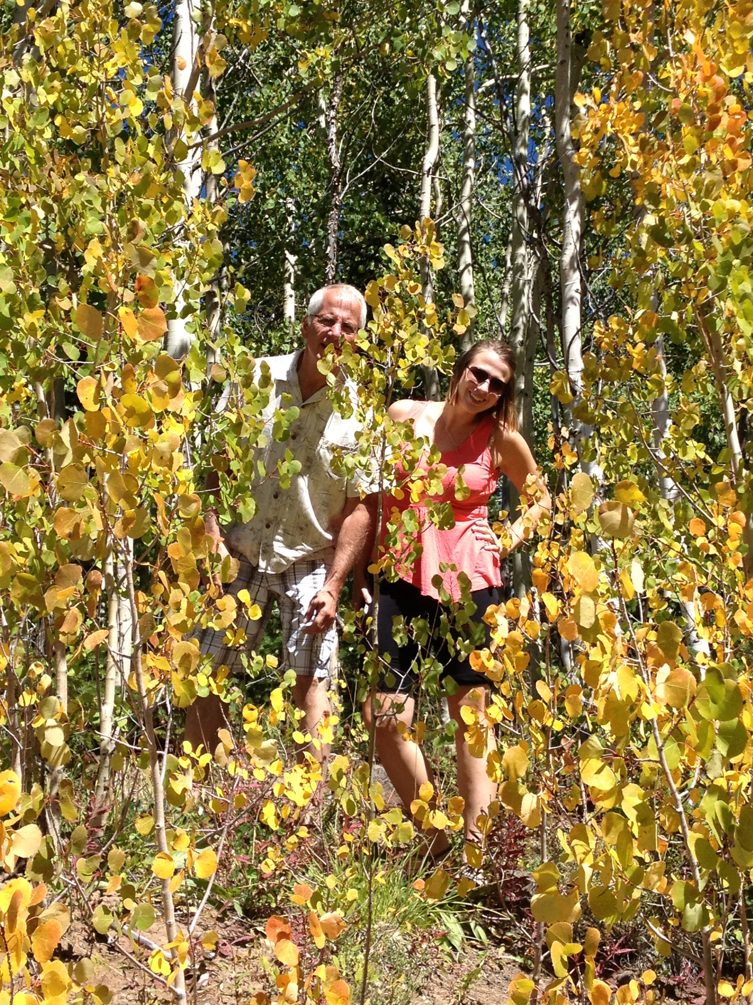 My Dad and I in the Aspen trees..