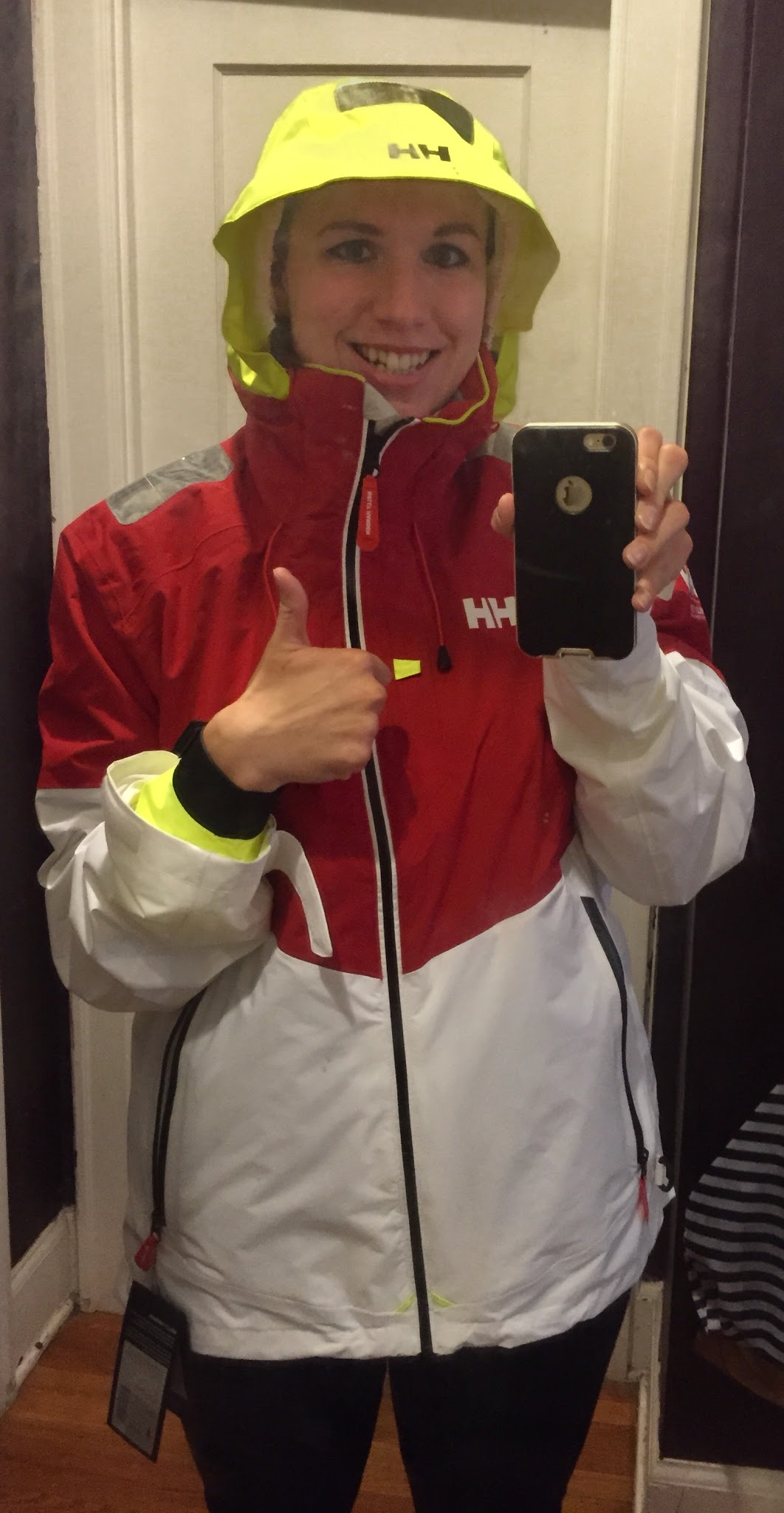 Helly Hansen rain jacket with great cuffs to keep the water out