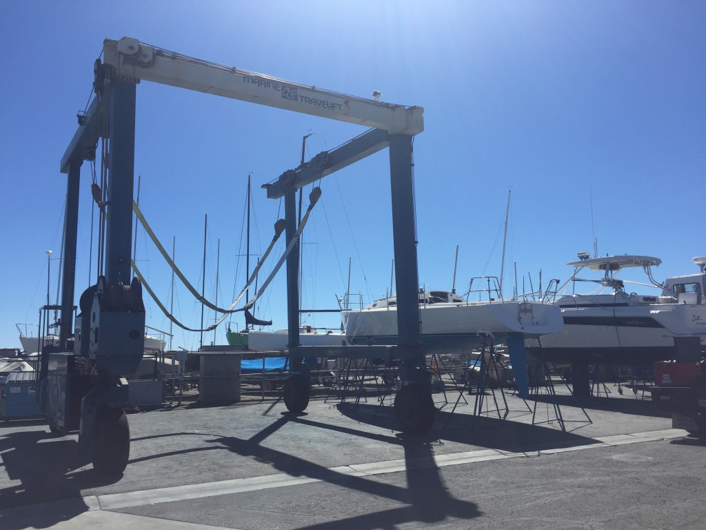 Lift used to haul a boat out of the water