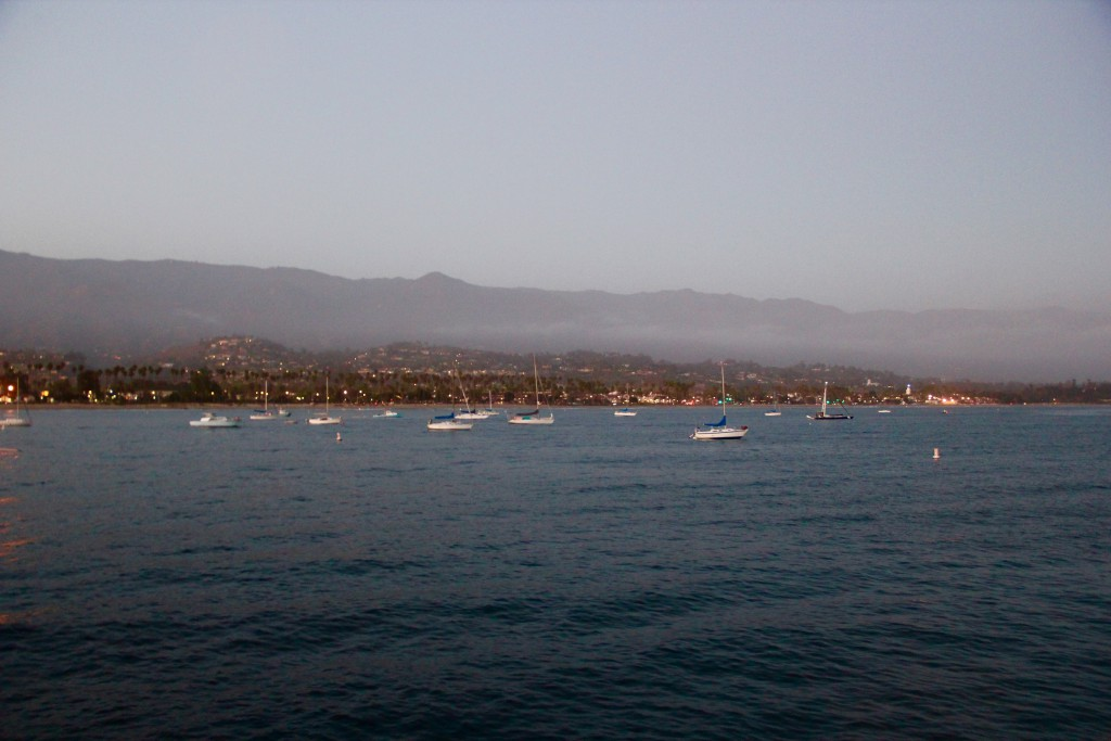 View of the anchorage we didn't stay at from Stearns Wharf