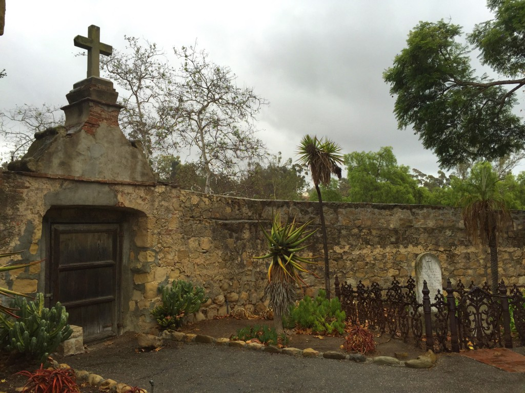 Cemetery on the mission grounds