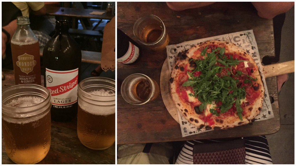 Delicious pizza and drinks at Lucky Penny