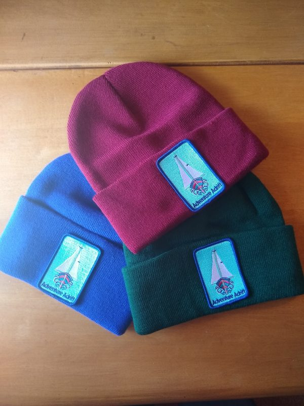 Beanies with patches